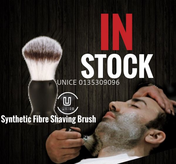 Barber Synthetic Fibre Shaving Brush  BARBER ACCESSIORIES BARBER AND SALON TOOLS Johor Bahru JB Malaysia Supplier & Wholesaler | UNICE MARKETING SDN BHD