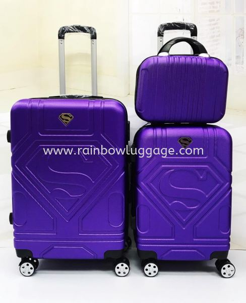 Superman Dark Purple Superman Grade A 3 In 1 Luggage Luggages Johor Bahru (JB), Malaysia, Johor Jaya Supplier, Suppliers, Supply, Supplies | Rainbow Wholesale Store Sdn Bhd