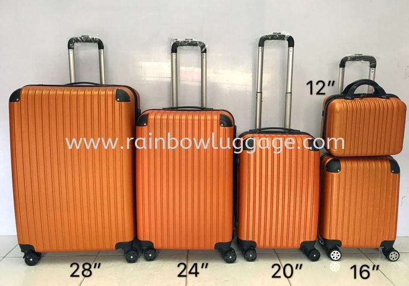 Plain Orange Plain Grade A 5 In 1 Luggage Luggages Johor Bahru (JB), Malaysia, Johor Jaya Supplier, Suppliers, Supply, Supplies | Rainbow Wholesale Store Sdn Bhd