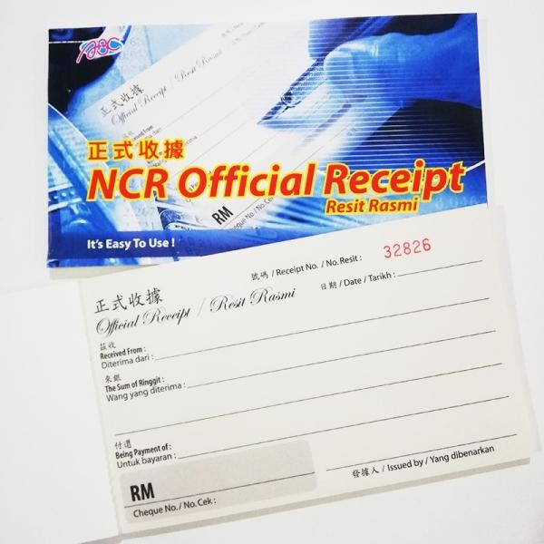 ABC OFFICIAL RECEIPT  RECEIPT BOOK CASH VOUCHER / BILL / BOOK / RECEIPT BOOK Melaka, Malaysia Supplier, Suppliers, Supply, Supplies | Double A One Stop Station Sdn Bhd