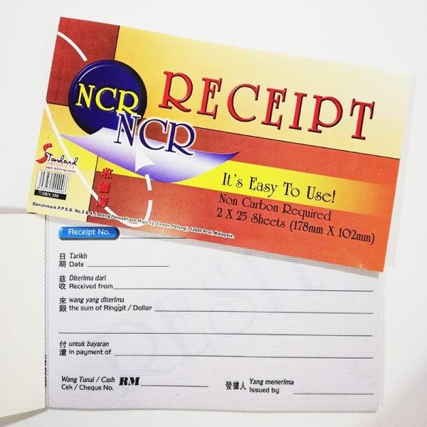 NCR RECEIPT RECEIPT BOOK CASH VOUCHER / BILL / BOOK / RECEIPT BOOK Melaka, Malaysia Supplier, Suppliers, Supply, Supplies | Double A One Stop Station Sdn Bhd