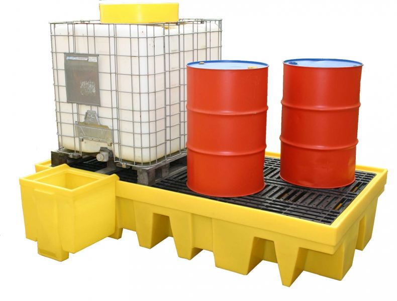 Spill Station TSSBB2 Dual IBC Spill Containment Unit With Grate Spill Containment Spill Control, Chemical Storage & Handling Selangor, Malaysia, Kuala Lumpur (KL), Shah Alam Supplier, Suppliers, Supply, Supplies | Safety Solutions (M) Sdn Bhd