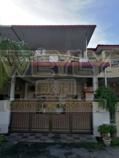 2-Storeys Terrace House Re-Painting Works Residential Painting Works Penang, Malaysia, Bukit Mertajam Services   WEYLY SDN BHD