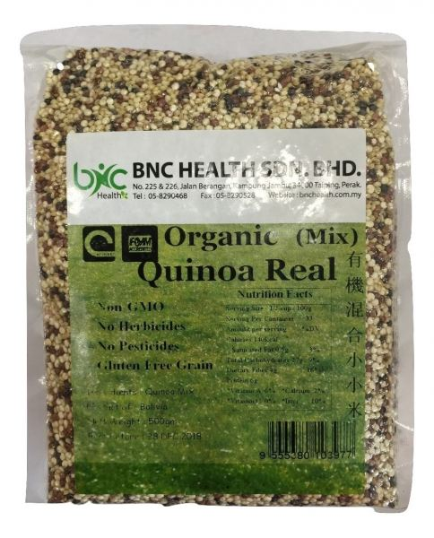 BNC - Organic Mix Quinoa Real 有机混合小小米 (500g/pkt) 五谷杂粮 Perak, Malaysia, Taiping Supplier, Suppliers, Supply, Supplies | BNC Health Sdn Bhd