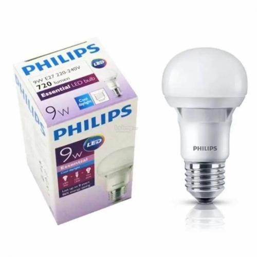 PHILIPS 9W E27 Essential LED Bulb Warm White (3000k)