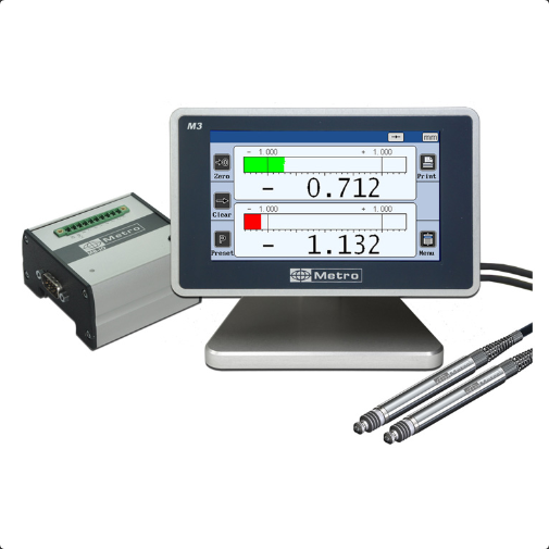 M3 - Touch Screen Display Unit for 2 probes Touch Screen Display Units METRO Digital Display Unit Singapore Supplier, Suppliers, Supply, Supplies | Advanced Gauging Solutions Pte Ltd