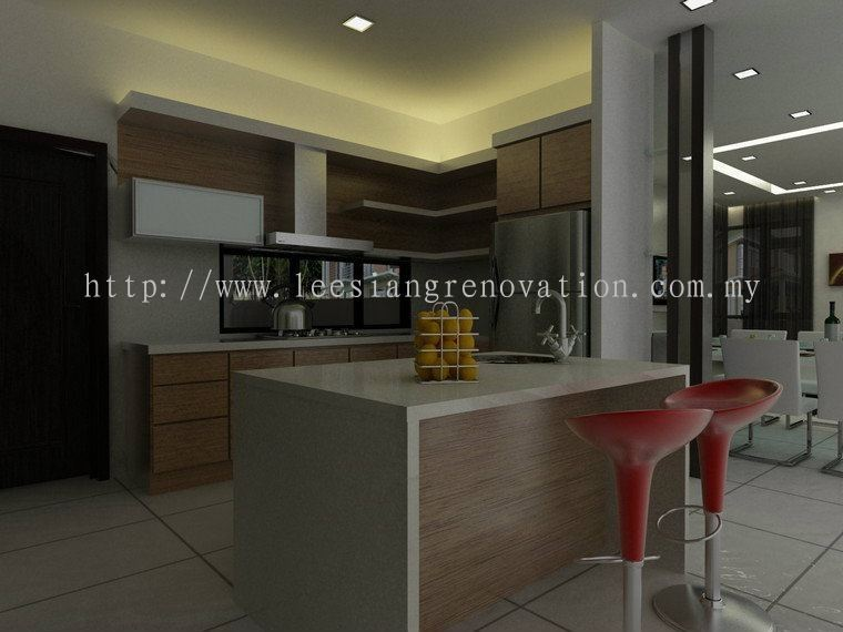 Kitchen Cabinet Design 3D Kitchen 3D Design Drawing     HomeBagus - Home and Deco ONLINE EXPO!