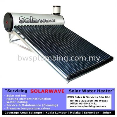 Repair Solarwave Solar Water Heater Installation at Ayer Keroh, Selangor