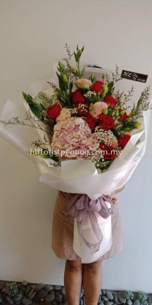 HB015 Hydrangea Hand Bouquet Hand Bouquet Penang, Butterworth, Malaysia Supplier, Suppliers, Supply, Supplies | HL Florist & Gift