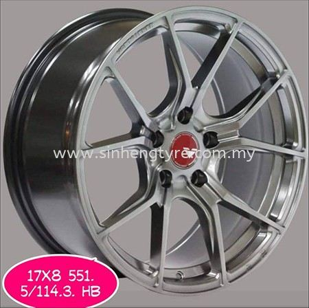 17X8 551 5H114.3 HB 17 Inch Wheels Johor Bahru (JB), Malaysia, Perling Supplier, Suppliers, Supply, Supplies | Sin Heng Tyre & Battery Co. Sdn Bhd