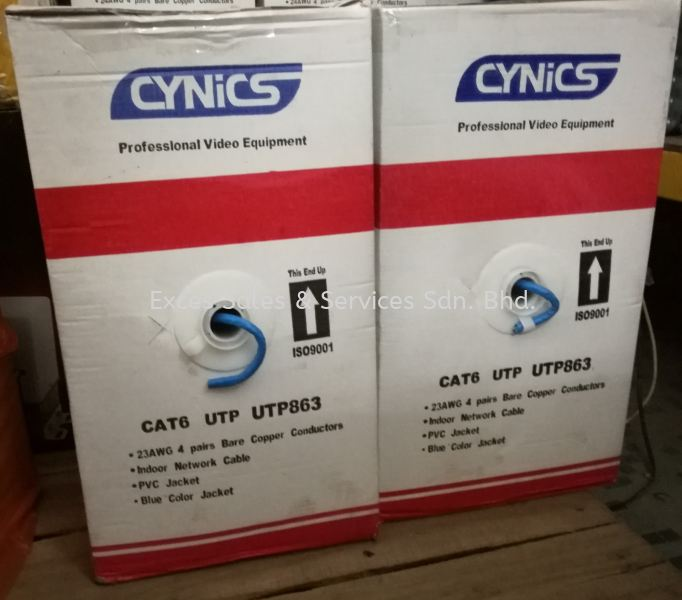 Cynics PVE UTP863 Cat6 (Indoor) Cable 305m Accessories - CCTV  Perak, Ipoh, Malaysia Installation, Supplier, Supply, Supplies | Exces Sales & Services Sdn Bhd