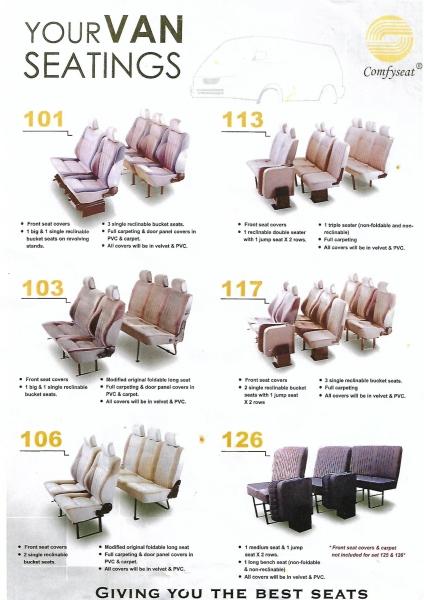 YOUR VAN SEAT  WINDOW VAN SEAT  VAN SEAT MANUFACTURE Kuala Lumpur (KL), Malaysia, Selangor Supplier, Suppliers, Supply, Supplies | Mobile Life Automobil Sdn Bhd