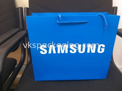 """samsung blue 200gsm 2 side with 12"""" polyester string"""