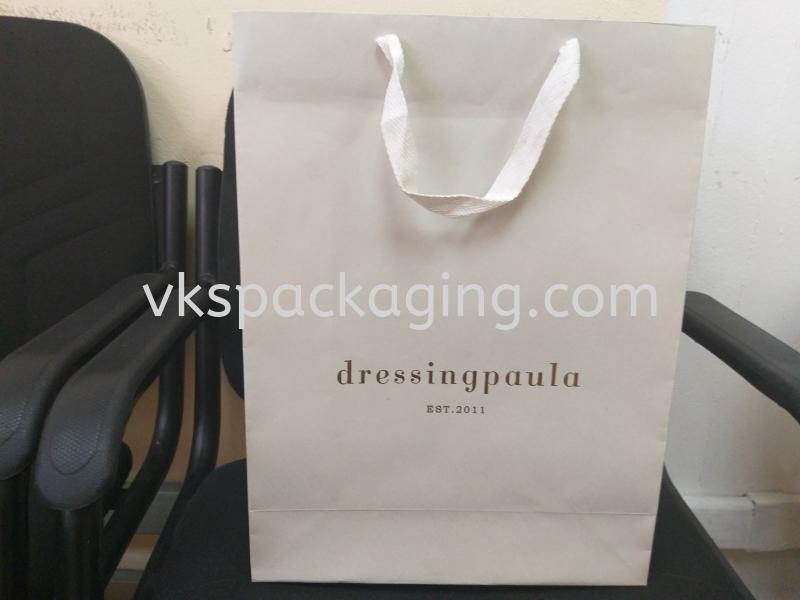 Dressing Paula 175gsm white top with 20mm flat polyester string White Top Paper Bag Malaysia, Selangor, Kuala Lumpur (KL), Seri Kembangan Manufacturer, Supplier, Supply, Supplies | VKS Packaging Manufacturing Sdn Bhd