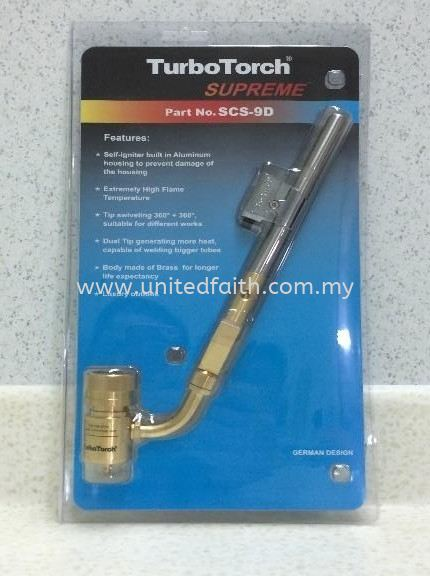 TORCH DOUBLE ELECTRONIC SCS-9D 每 (TURBO) 每 DTSCS-9D Brazing Equipment & Accessories Selangor, Puchong, Malaysia, Singapore, Kuala Lumpur (KL) Supplier, Suppliers, Supply, Supplies | United Faith Sdn Bhd