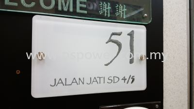 Acrylic Signs for House Door Number