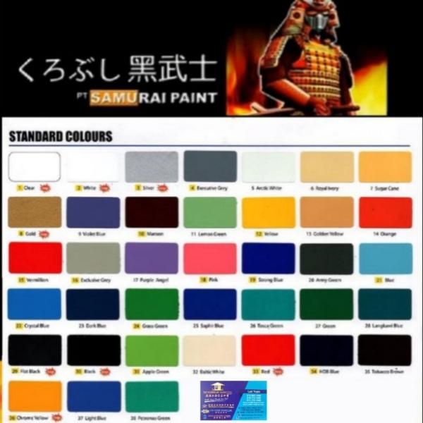 Samurai Spray Paints Melaka, Malaysia, Merlimau Supplier, Suppliers, Supply, Supplies | T&T Hardware Marketing