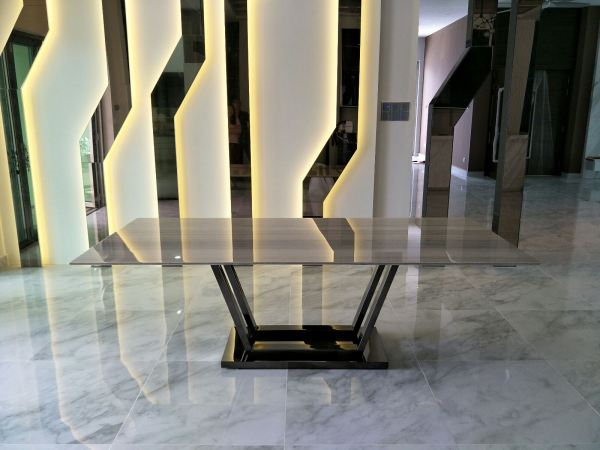 Modern Marble Dining Table - Palisandro Marble Marble Dining Table Selangor, Kuala Lumpur (KL), Malaysia Supplier, Suppliers, Supply, Supplies   DeCasa Marble Sdn Bhd