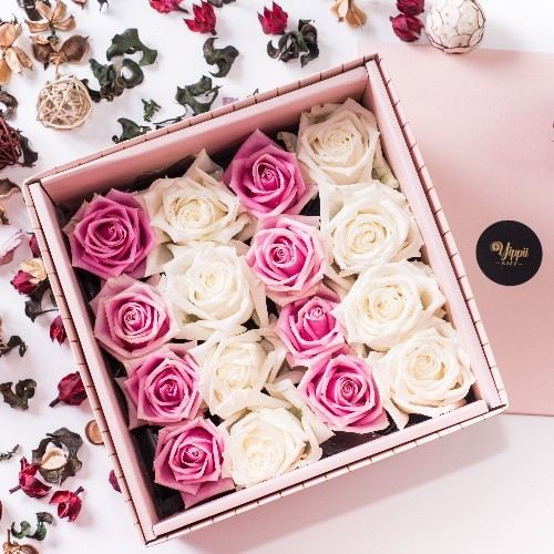 PINK SORBET Pink Flower Box Online Flower Delivery Kuala Lumpur (KL), Selangor, Malaysia, Cheras Delivery, Service | Sweet Maximus Enterprise