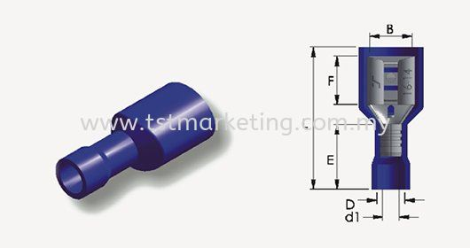 FULLY INSULATED PVC FEMALE DISCONNECTS DISCONNECTS Malaysia, Selangor, Kuala Lumpur (KL), Seri Kembangan Supplier, Suppliers, Supply, Supplies   TST Electrical Marketing