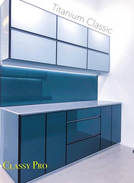 Titanium Classic Kitchen Design Kitchen Design Johor Bahru (JB), Malaysia, Selangor, Kuala Lumpur (KL), Gelang Patah, Kajang Design | Classy Project Management Sdn Bhd