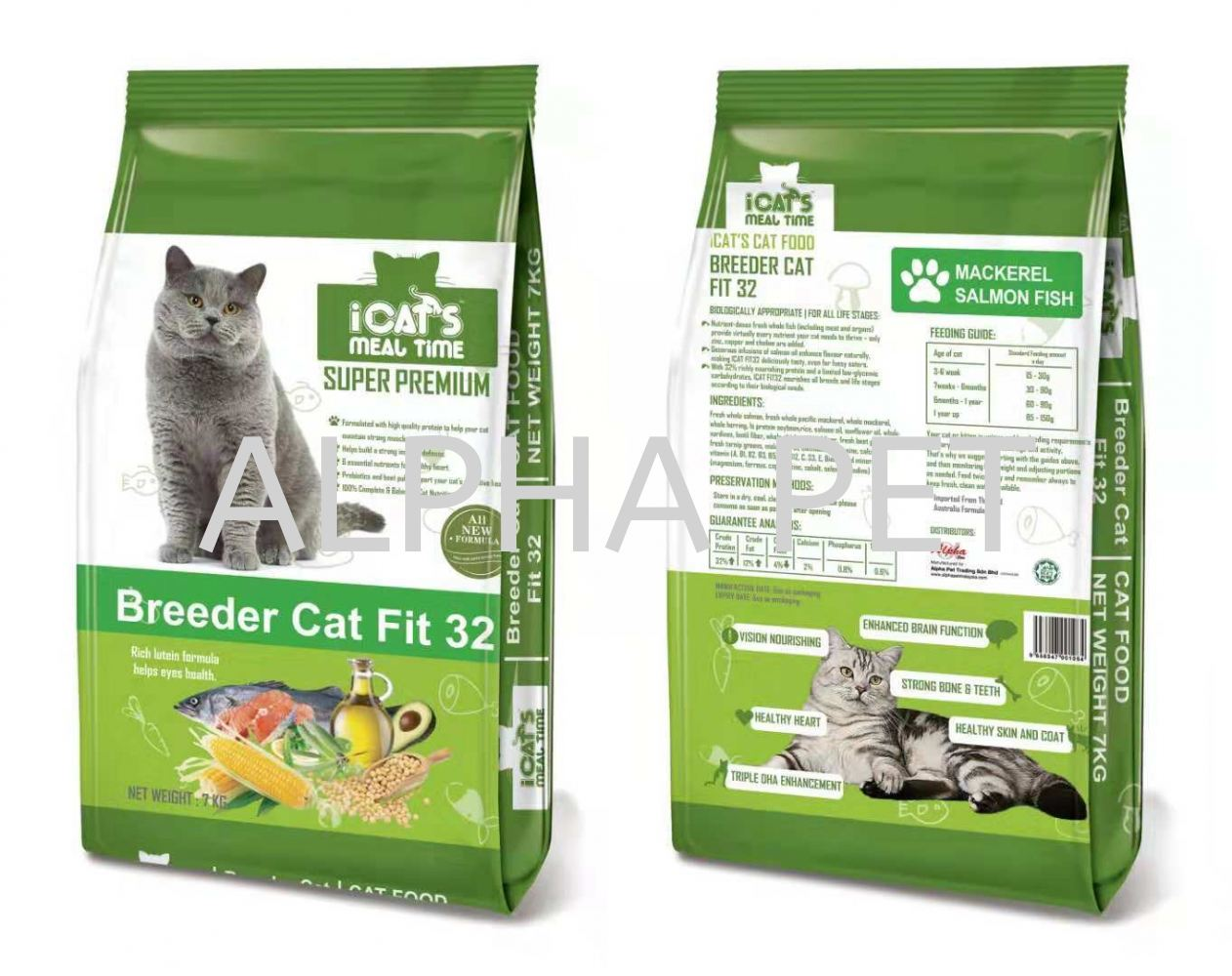 iCAT'S Premium Cat Food - Breeder Cat Fit 32