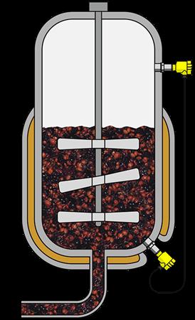 Level measurement in a vacuum vessel