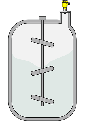 Level measurement in the reaction vessel