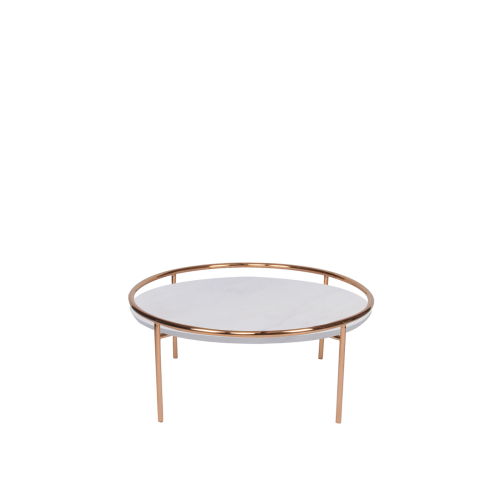 Round Marble Coffee Table - Sivec White Marble