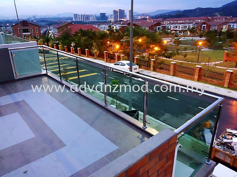 Balcony Glass Railing  Stainless Steel Glass Railing Selangor, Malaysia, Kuala Lumpur (KL), Puchong Supplier, Supply, Supplies, Retailer | Advanz Mod Trading