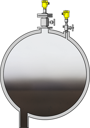 Level and pressure monitoring in liquid gas tanks