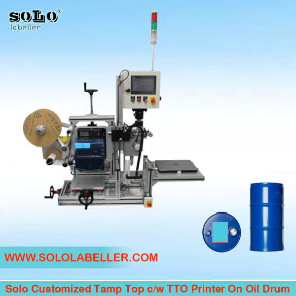 Top Tamp c/w TTO Printer Labelling Machine (Customized Machine) Customized Labelling Selangor, Malaysia, Kuala Lumpur (KL), Puchong Machine, Manufacturer, Supplier, Supply | Solo Labelling Sdn Bhd