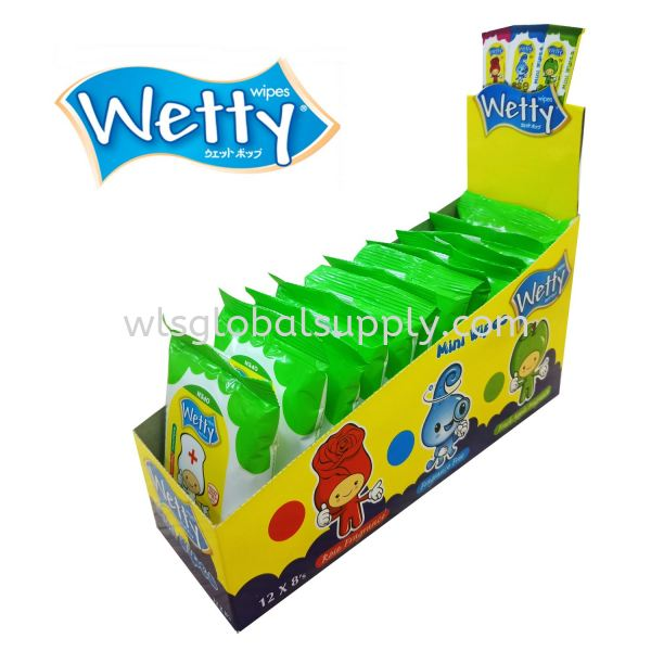 Wetty Mini Antibacterial Wet Wipes 8's x 12 Mini Wet Wipes Wetty Malaysia, Selangor, Kuala Lumpur (KL), Balakong Manufacturer, Supplier, Supply, Supplies | WLS Global Supply Sdn Bhd