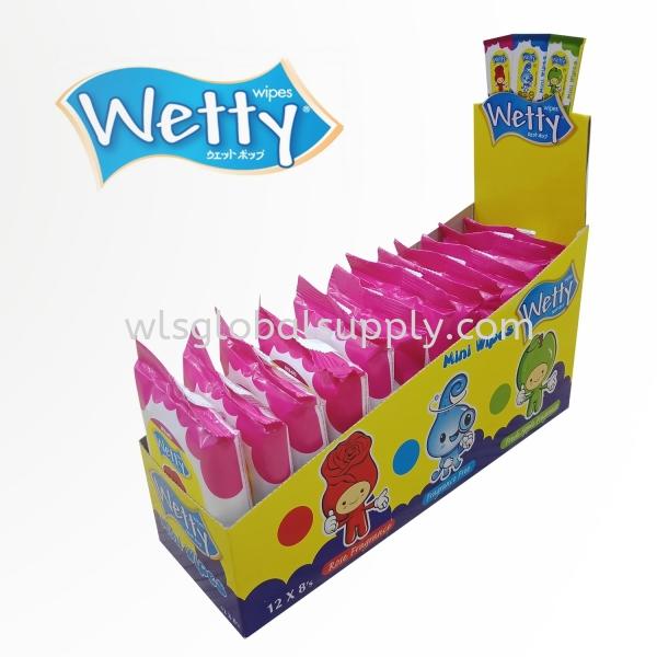 Wetty Mini Wet Wipes 12 x 8's ( Rose) Mini Wet Wipes Wetty Malaysia, Selangor, Kuala Lumpur (KL), Balakong Manufacturer, Supplier, Supply, Supplies | WLS Global Supply Sdn Bhd