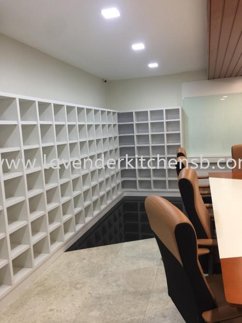 Meeting Room Display Rack & White Board