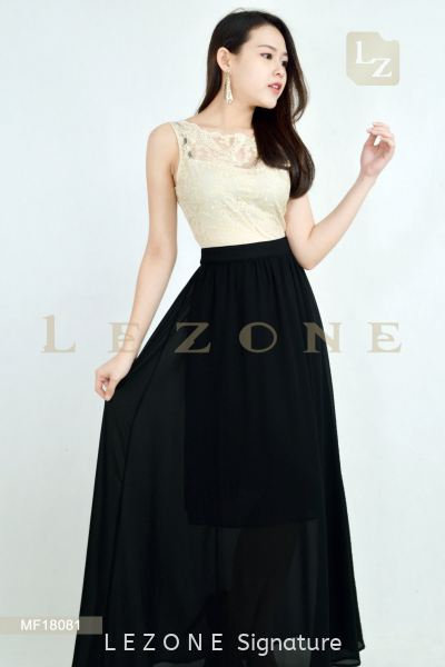 MF18081 LeAnn Lace Top Maxi Dress 晚礼服 新款连身裙    | LE ZONE Signature