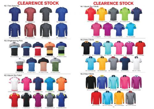 CLEARANCE STOCKS