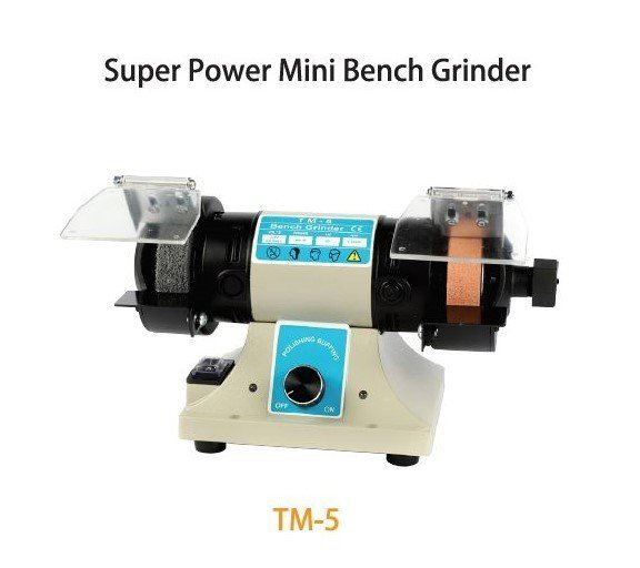 TMT 75MM MINI BENCH GRINDER 400W 230V 50HZ (NW:16KG) (WHEEL SIZE: 75 X 20 X 10MM), TM5 TM TOOLS GRINDING SERIES OTHER TOOLS Singapore, Kallang Supplier, Suppliers, Supply, Supplies | DIYTOOLS.SG