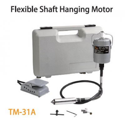 TMT FLEXIBLE SHAFT (92.5CM) HANGING MOTOR 120W 230V 50HZ 20,000RPM  WITH TOOL & CASING SET, TM-31A