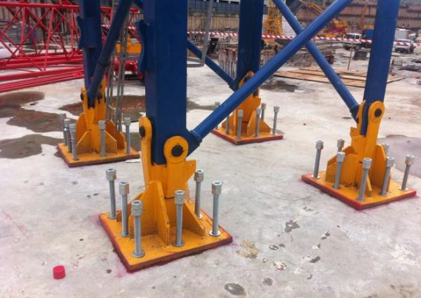 Tower Crane base plate foundation. Chemical Anchor Bolts And Rebar Installation Kuala Lumpur (KL), Malaysia, Selangor, Cheras Service | T-Set (M) Sdn Bhd