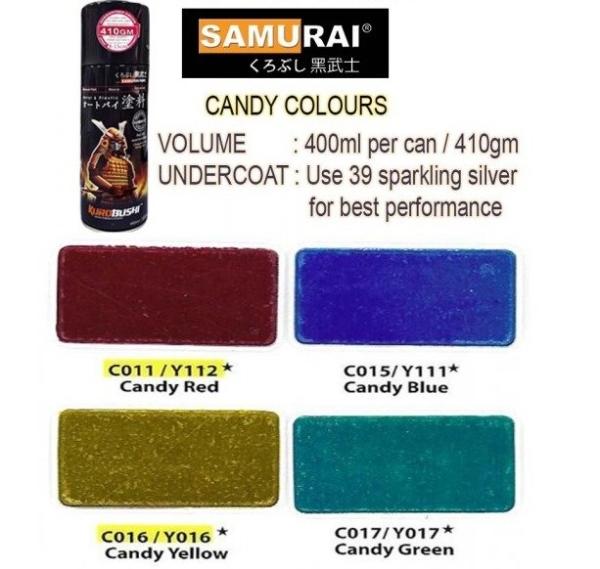 CANDY COLOUR SAMURAI AEROSOL PAINT Melaka, Malaysia Supplier, Suppliers, Supply, Supplies | Kim Guan Paint Sdn Bhd