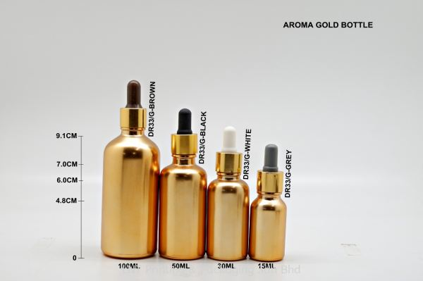 AROMA GOLD BOTTLE Aroma Bottle Aroma & Ampoules Bottle Penang, Malaysia, Bukit Mertajam Supplier, Services, Supply, Supplies   LNT Printing & Packaging Sdn Bhd