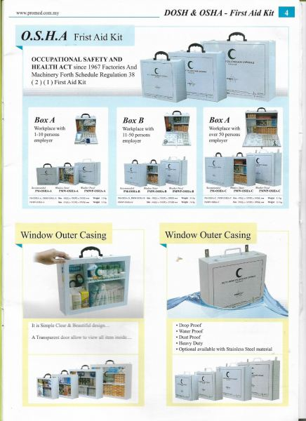 EMERGENCY, PROFFESIONAL FIRST AID KIT FIRST AID KIT  Kuala Lumpur (KL), Malaysia, Selangor Supplier, Suppliers, Supply, Supplies   Mobile Life Automobil Sdn Bhd