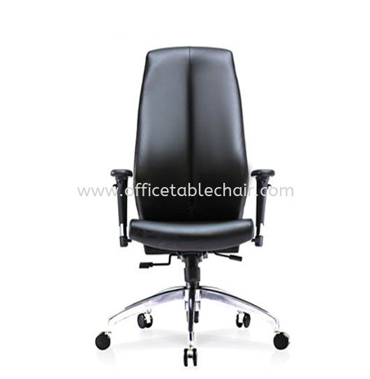 SENSE 2 EXECUTIVE HIGH BACK LEATHER CHAIR WITH ALUMINIUM ROCKET DIE-CAST BASE HB