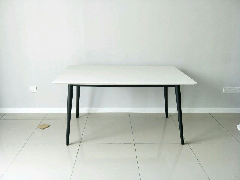 Quartz Stone Dining Table - Alpine  Marble Dining Table Clearance Item Selangor, Kuala Lumpur (KL), Malaysia Supplier, Suppliers, Supply, Supplies | DeCasa Marble Sdn Bhd