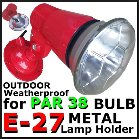 MP200 PAR38 HOLDER ONLY (RED) WITHOUT LAMP