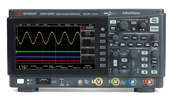 DSOX1204G Oscilloscope: 70/100/200 MHz, 4 Analog Channels Oscilloscopes InfiniiVision 1000 X-Series Oscilloscope Keysight Singapore Distributor, Supplier, Supply, Supplies | Mobicon-Remote Electronic Pte Ltd
