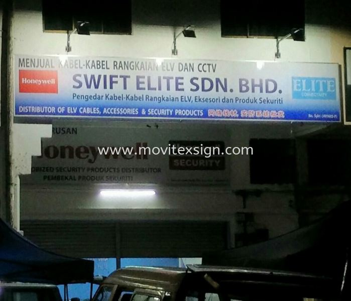 Signboard with LED spot light (click for more detail) Signboard / Lighting Signboard  Johor Bahru (JB), Johor, Malaysia. Design, Supplier, Manufacturers, Suppliers | M-Movitexsign Advertising Art & Print Sdn Bhd