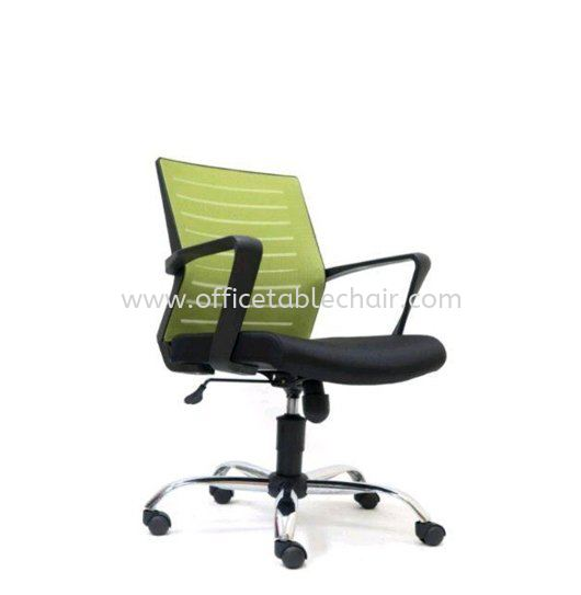 BURNLEY LOW BACK MESH CHAIR WITH CHROME METAL BASE ASE 2735