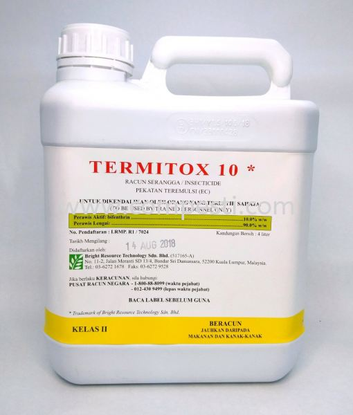 Termitox 10 Bifenthrin Active Ingredients Selangor, Malaysia, Kuala Lumpur (KL), Puchong Supplier, Suppliers, Supply, Supplies | COMPESTI SDN BHD